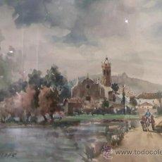 Arte: FELIP BRUGUERAS PALLACH. PINTOR ACUARELISTA NACIDO EN BARCELONA EN 1915, (SANT BOI DE LLOBREGAT). Lote 29080719