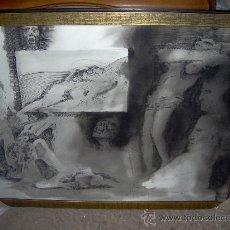 Arte: RICARDO ZAMORANO ORIGINAL AGUADA BLANCO Y NEGRO FIRMADO Y FECHADO -ZAMORANO 73 MEDIDA 76 X 58 CM.. Lote 29226978