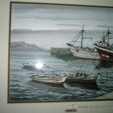 Arte: PRECIOSA ACUARELA CON MARCO-E.A.ESCARPIZO-MEDIDAS 72X63 Y 45X35--OBRA ORIGINAL.. Lote 29498593