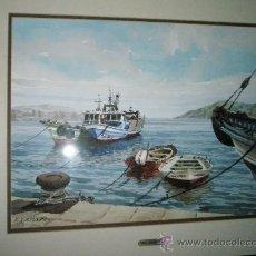 Arte: PRECIOSA ACUARELA CON MARCO Y CRISTAL DE E.A.ESCARPIZO-MEDIDAS 73X63 Y 45X35 CMS-.. Lote 29534087
