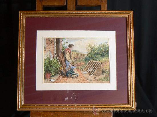 ACUARELA INGLESA SIGLO XIX (Arte - Acuarelas - Modernas siglo XIX)