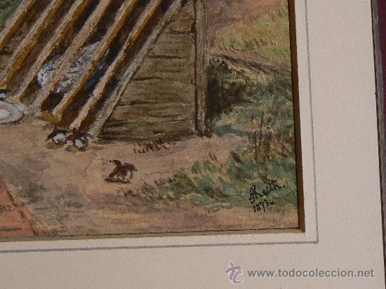 Arte: ACUARELA INGLESA SIGLO XIX - Foto 8 - 29752974