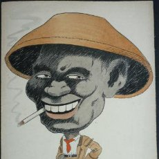 Arte: EXCEPCIONAL CARICATURA ORIGINAL DEL PRESTIGIOSO PINTOR E ILUSTRADOR TOM PARR, FIRMADA Y FECHADA 1919. Lote 38852975