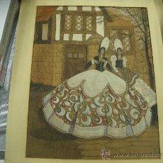 Arte: DIBUJO Y OLEO CARTULINA PINTURA ANTIGUA FIRMADO V.B. MEDIDA 29 X 22 CM. SEÑORAS VESTIDO ÉPOCA. Lote 29796924