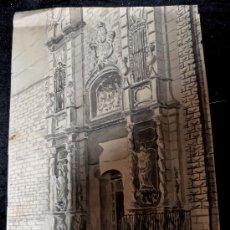 Arte: ACUARELA FIRMADA F.DIAZ. FACHADA DE LA IGLESIA DE BELÉN DE BARCELONA. AÑOS 60. Lote 29851313