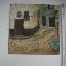 Arte: CUADRO PUEBLO. Lote 29912968