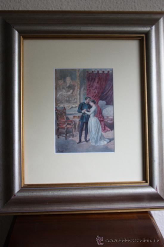 ANTIGUA ACUARELA (Arte - Acuarelas - Modernas siglo XIX)