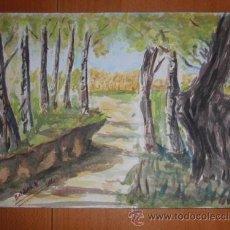 Kunst - Acuarela Baldrich Navarro año 1972 con certificado de autenticidad de galeria - 30053496