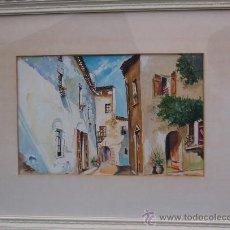Arte: ACUARELA Y ÓLEO - CALLE DE PUEBLO.. Lote 30119801