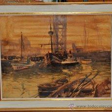 Arte: CEFERINO OLIVÉ CABRÉ (1907-1995) REUS.TARRAGONA. GIGANTESCA ACUARELA FECHADA DEL AÑO MCMLXX (1970). Lote 30316050