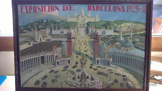 EXPOSICION DE BARCELONA 1929 30 PALACIO NACIONAL (Arte - Acuarelas - Contemporáneas siglo XX)