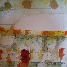 Arte: CARLOS MENDEZ-ACUARELA SOBRE CARTULINA. Lote 30376297