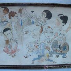 Arte: CARICATURAS PINTADAS ACUARELA. FIRMADO NAVARRO 1948. Lote 30557685