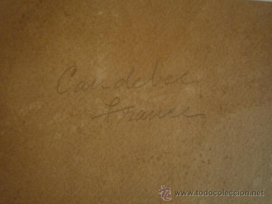 Arte: Magistral acuarela impresionista, escuela francesa, siglo XIX c.1870, firmada, CAUDEBEC, FRANCE - Foto 10 - 30711347