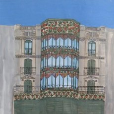 Arte: ESTHER CASTELLS - TÉCNICA MIXTA SOBRE PAPEL - 42 X 30 CM - SIN TITULO.. Lote 30731613