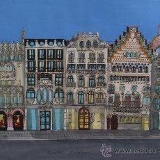 Arte: ESTHER CASTELLS - TÉCNICA MIXTA SOBRE PAPEL - 30 X 42 CM.. Lote 30731787