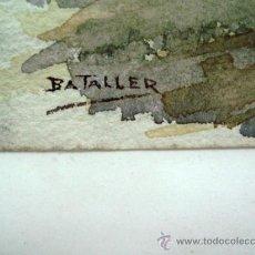 Arte: ACUARELA TOMAS FERNANDEZ BATALLER (1893-1962) ROMANICO ASTURIAS. Lote 30966395