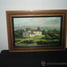 Arte: CUADRO-ÓLEO-GALÁN HIDALGO-PINTOR Y MAESTRO CORUÑÉS-MARCO-CAPILLA ALDEA-BUEN ESTADO-VER FOTOS.. Lote 31406756