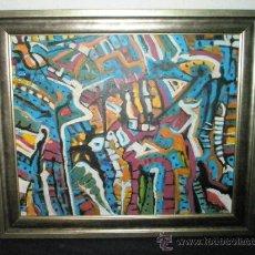 Kunst - CUADRO CON MARCO-ACRÍLICO SOBRE LIENZO-ALFREDO ROLDÁN-CATALOGADO-COLITA ABRIGADA-. - 31461349