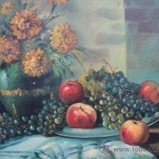 Arte: PRECIOSO Y ANTIGUO BODEGON DE FRUTAS. Lote 31129397