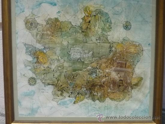 ACUARELA POR RODOLFO DEL CASTILLO (ASTILLERO 1933-FRIBURGO 1979) (Arte - Acuarelas - Contemporáneas siglo XX)