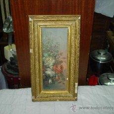 Arte: CUADRO FIRMADO E.M. PINTADO EN TABLA. Lote 31362280