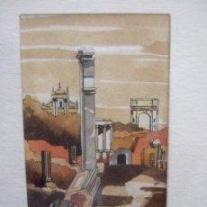 Arte: ACUARELA - ROMA - FORO ROMANO - FIRMADA - ENMARCADA - AÑO 2004 - 22X22 CON MARCO. Lote 31689069