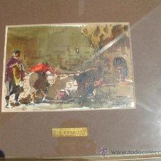 Arte: ACUARELA DEL ARTISTA OLOTINO JOSEP TRAITÉ. JULIO 1978.. Lote 31692690