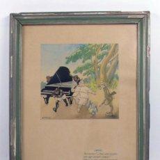 Arte: VALENTÍ CASTANYS (1898-1965) ACUARELA Y TINTA, MARCO: 27X35 CM.. Lote 31706334