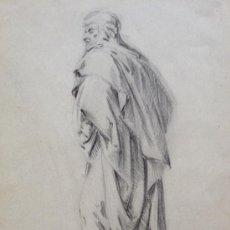 Arte: BRILLANTE RETRATO MASCULINO A CARBONCILLO, EXCELENTE CALIDAD, SIGLO XIX. Lote 31784339