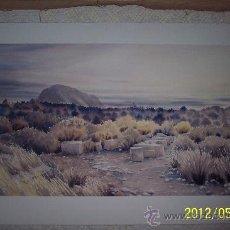 Arte: IMPRESIONANTE ACUARELA PAISAJE VIRGEN CON RUINAS FIRMADA Y FECHADA. Lote 31981934