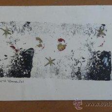 Arte: MARIA ASSUMPCIÓ RAVENTÓS. TECNICA MIXTA EN FRONTAL DE FELICITACION NAVIDAD. DEDICADA. Lote 32134863