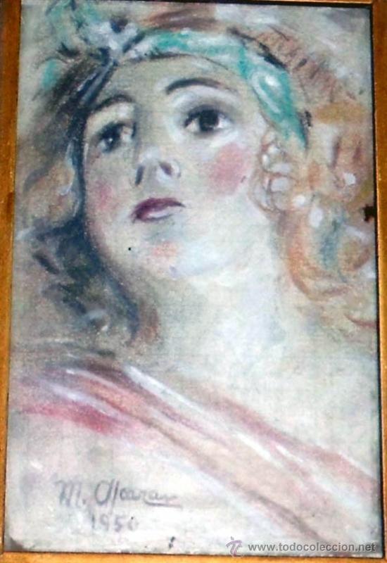 PINTURA REPRESENTANDO A UNA DIOSAEN ACUARELA DE MUY ALTA CALIDAD, MEDIDAS 17 X 12,5 (Arte - Acuarelas - Modernas siglo XIX)