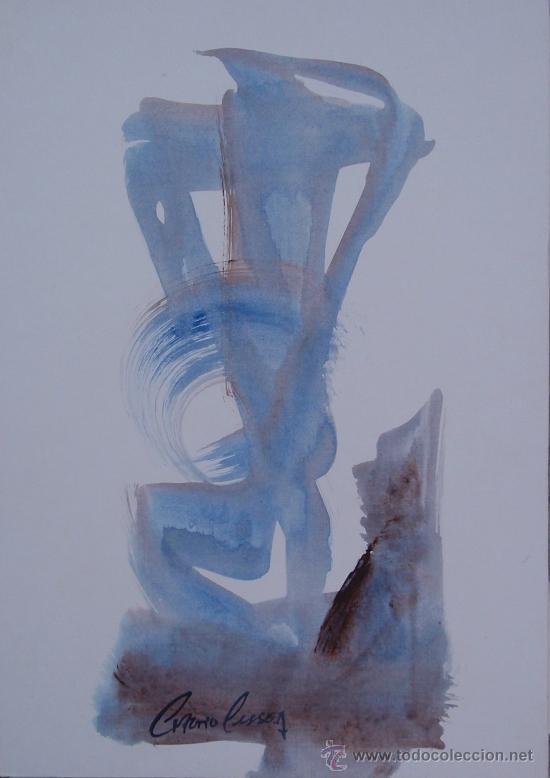ANTONIO PESSOA - SERIE ESCULTURAS - Nº 665 - 41 X 29 CM (Arte - Acuarelas - Contemporáneas siglo XX)