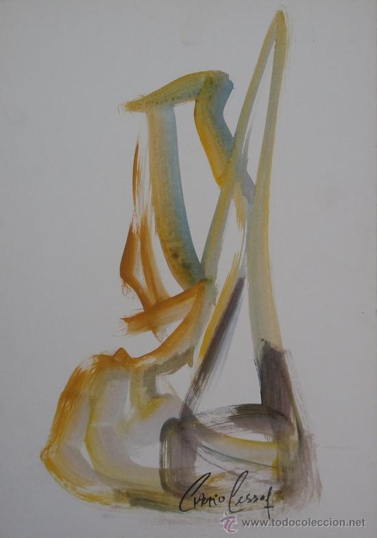 ANTONIO PESSOA - SERIE ESCULTURAS - Nº 540 - 40 X 28 CM (Arte - Acuarelas - Contemporáneas siglo XX)