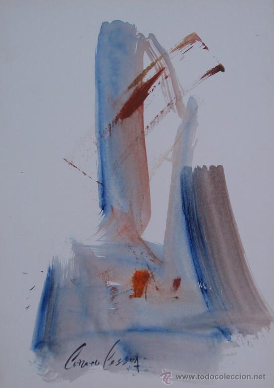 ANTONIO PESSOA - SERIE ESCULTURAS - Nº 765- 41 X 29 CM (Arte - Acuarelas - Contemporáneas siglo XX)