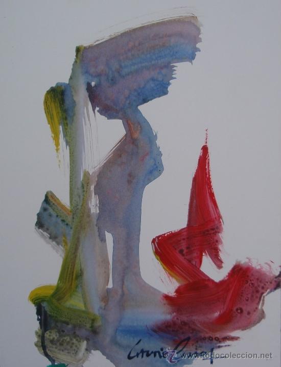 ANTONIO PESSOA - SERIE ESCULTURAS - Nº 546 - 36'5 X 28 CM (Arte - Acuarelas - Contemporáneas siglo XX)