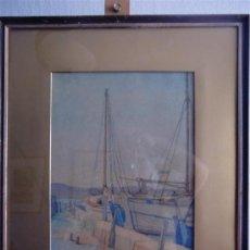Arte: PRECIOSA MARINA ENMARCADA Y FIRMADA P. SHARPE 1939. Lote 46793185