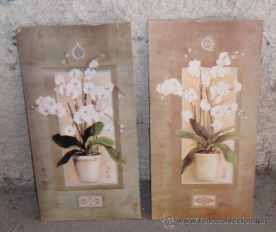 Dos cuadros de orquideas sin enmarcar comprar acuarelas for Enmarcar cuadros precios