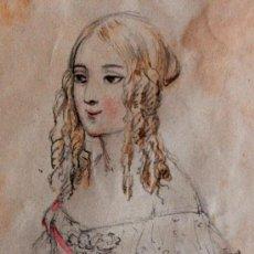 Arte: EXQUISITO RETRATO DE UNA JOVEN DE FINALES DEL SIGLO XVIII, ESCUELA DE VIENA, CALIDAD. Lote 32237696