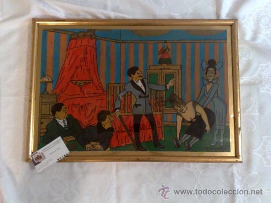 CARICATURA FIRMADA, .- F. FRESNO, Y FECHADA AÑO.-1919 (Arte - Acuarelas - Antiguas hasta el siglo XVIII)