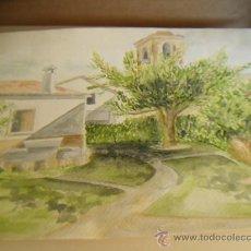 Arte: PAISAJE. ACUARELA CON UN FORMATO DE 46 X 32.5 CM. FIRMA E. COLOME 2002. Lote 32818072