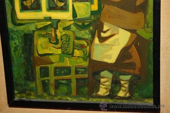 Arte: A1-016. TÉCNICA MIXTA SOBRE TABLA FIRMADA J.M. ESTELLER ALCALDE EN EL 66 REPRESENTANDO PAJARERA - Foto 4 - 32635711