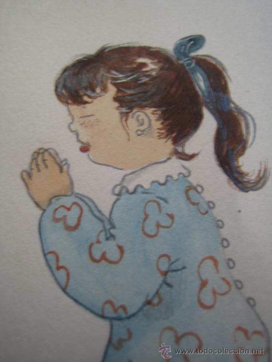 Arte: CINCO ACUARELAS INFANTILES FIRMADO MARIAANGELES, ORIGINALES, AÑOS 50-60 - Foto 8 - 32830938