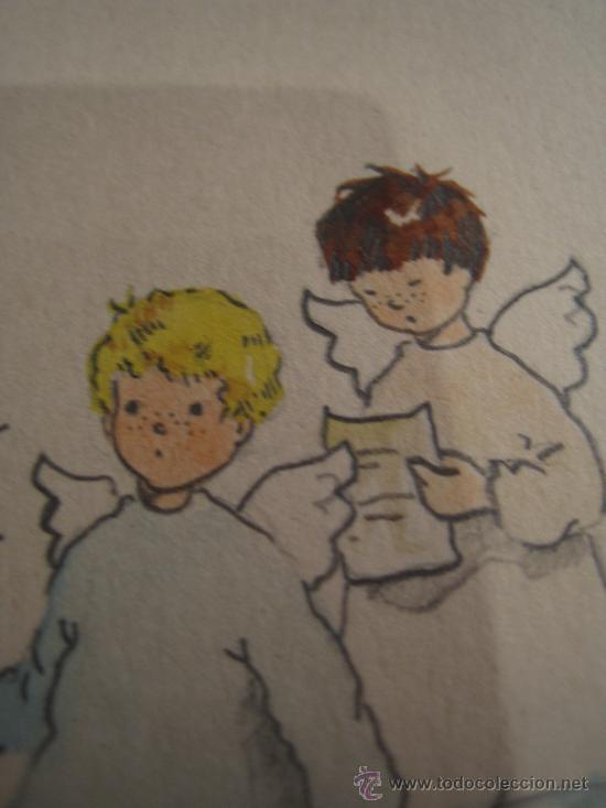 Arte: CINCO ACUARELAS INFANTILES FIRMADO MARIAANGELES, ORIGINALES, AÑOS 50-60 - Foto 10 - 32830938
