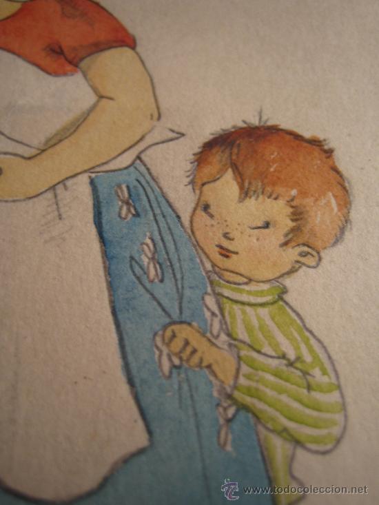 Arte: CINCO ACUARELAS INFANTILES FIRMADO MARIAANGELES, ORIGINALES, AÑOS 50-60 - Foto 11 - 32830938