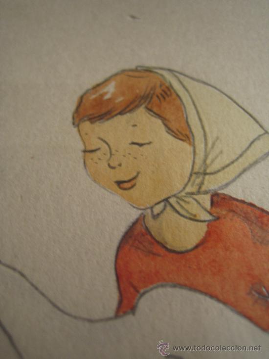 Arte: CINCO ACUARELAS INFANTILES FIRMADO MARIAANGELES, ORIGINALES, AÑOS 50-60 - Foto 12 - 32830938