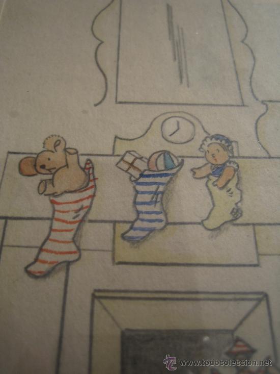 Arte: CINCO ACUARELAS INFANTILES FIRMADO MARIAANGELES, ORIGINALES, AÑOS 50-60 - Foto 13 - 32830938