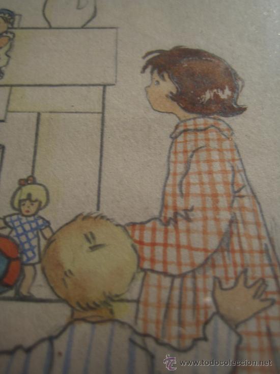 Arte: CINCO ACUARELAS INFANTILES FIRMADO MARIAANGELES, ORIGINALES, AÑOS 50-60 - Foto 14 - 32830938