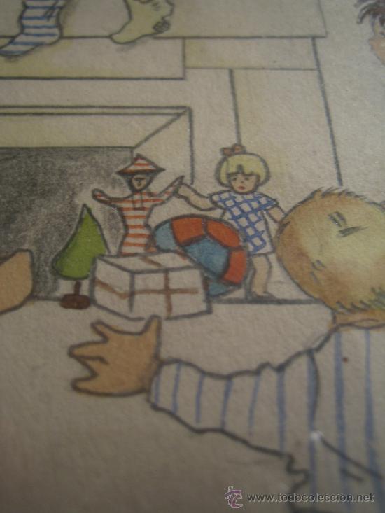 Arte: CINCO ACUARELAS INFANTILES FIRMADO MARIAANGELES, ORIGINALES, AÑOS 50-60 - Foto 15 - 32830938